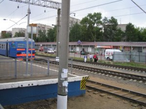 Monino platform (view from the train)
